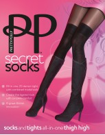 Pretty Polly  Socks and tights all-in-one thigh high